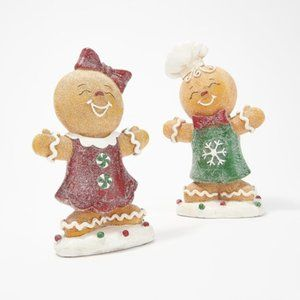 Set of 2 Sugared Gingerbread Children by Valerie